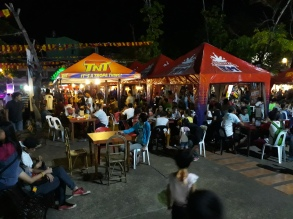 Food Stalls in front of Provincial Capitol