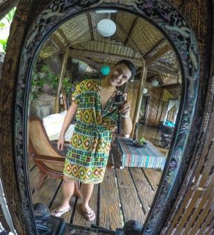 Mirror at the Buddha's Lounge.